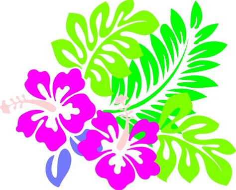 printable tropical flowers hawaiian foliage stencils pictures free printable