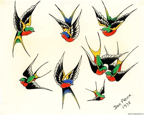 swallows tattoo design birds tattoos for you traditional bird