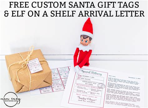 free printable elf on the shelf tags free custom santa gift tags and elf arrival letter 3