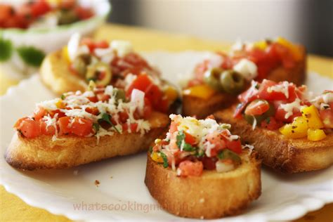 Holiday Appetizers by Tomato Basil Bruschetta Whats Cooking Mom