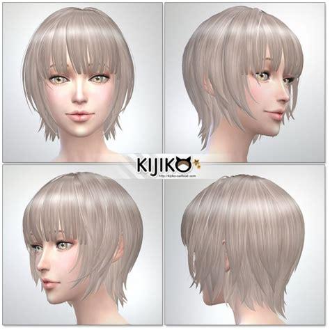 child bob haircut sims 4 kijiko bob with straight bangs for female sims 4