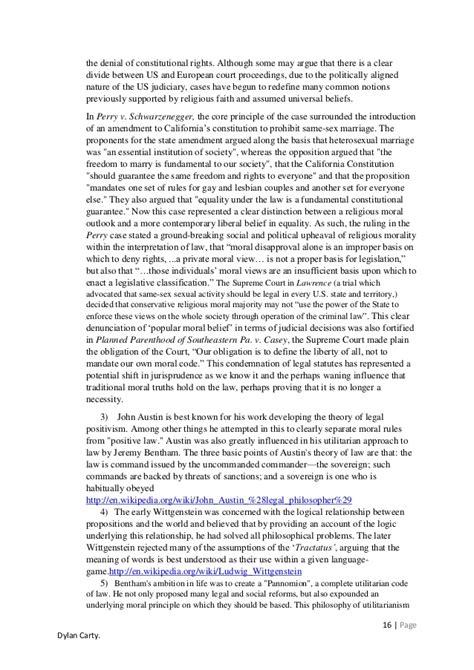 Jurisprudence Essays by Jurisprudence Essay Exle