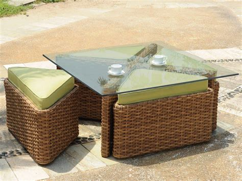 Rattan Coffee Table With Stools by Rattan Coffee Table With Stools Coffee Table Design Ideas