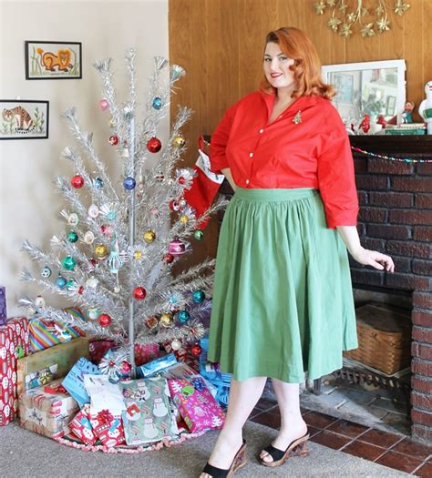 when did xmas skirts appear my 1950s tree va voom vintage vintage fashion hair tutorials and diy style