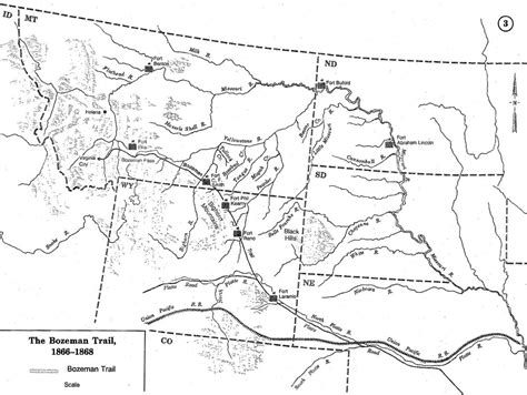 map of oregon trail in wyoming a brief history of the bozeman trail wyohistory org