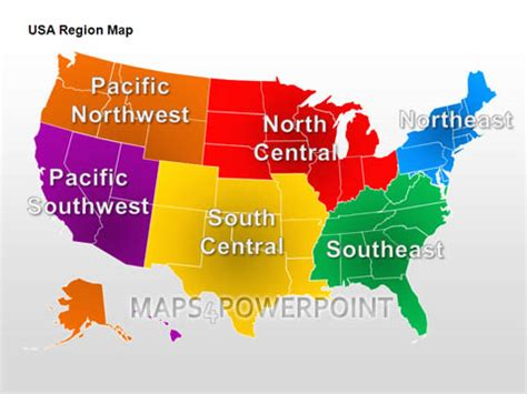 interactive map of usa regions u s powerpoint maps standard kit maps4powerpoint