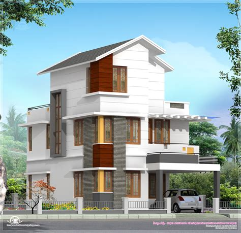 3 floor house 4 bedroom house plan in less than 3 cents kerala home