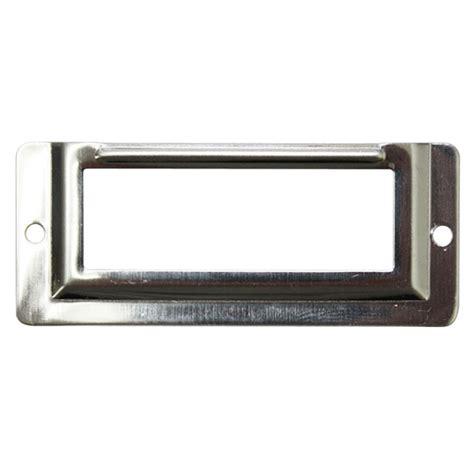 desk name plate holder 50 pcs chrome silver 58x24 mm locker drawer door name
