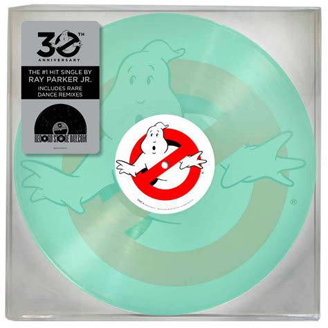 theme song vinyl ghostbusters theme song by ray parker jr gets glowing