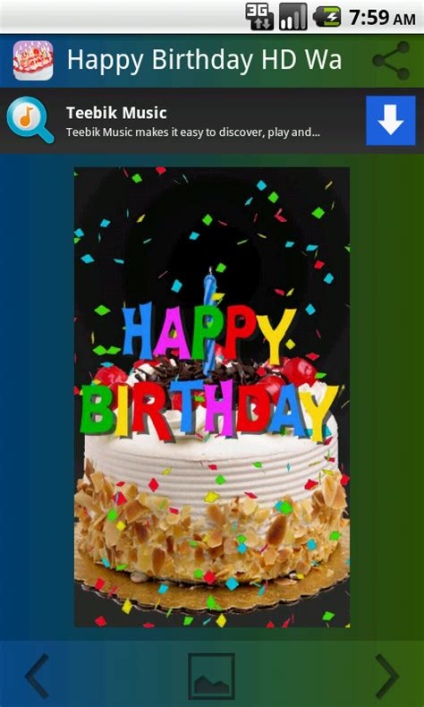 Free Happy Birthday Wallpaper For Android