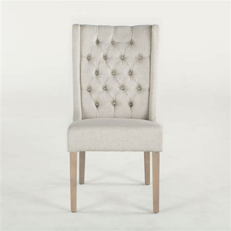 White Tufted Dining Chairs New Tufted White Linen Lara Dining Chair G206 Lara 04 N