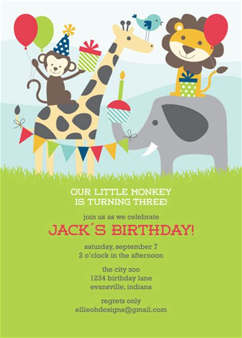 zoo themed birthday invitations party invitations birthday at the zoo at minted com