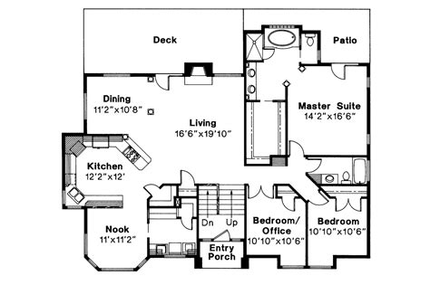 floor plan with perspective house contemporary house plans lenox 30 066 associated designs