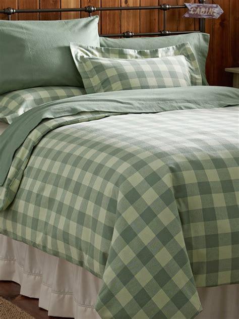 ll bean bedding ultrasoft flannel comforter cover buffalo plaid bedding