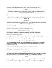 chapter 9 weight management quiz study 12a study 12a fluid and calcium for a