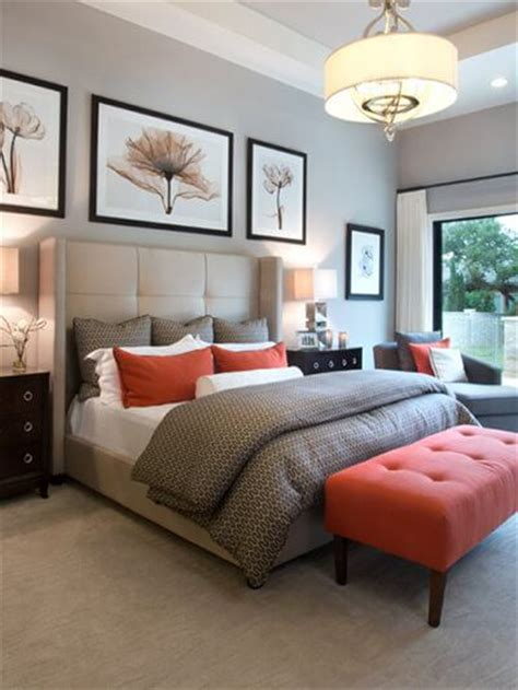 Orange Master Bedroom Decorating Ideas by How To Introduce A Pop Of Color In Your Neutral Bedroom