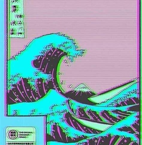 great wave  vaporwave kanagawa  nietr redbubble