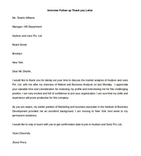 thank you letter after free template free thank you letter templates 49 free word pdf