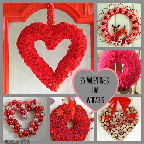 Handmade Diy - 25 valentine s day wreaths diy decor