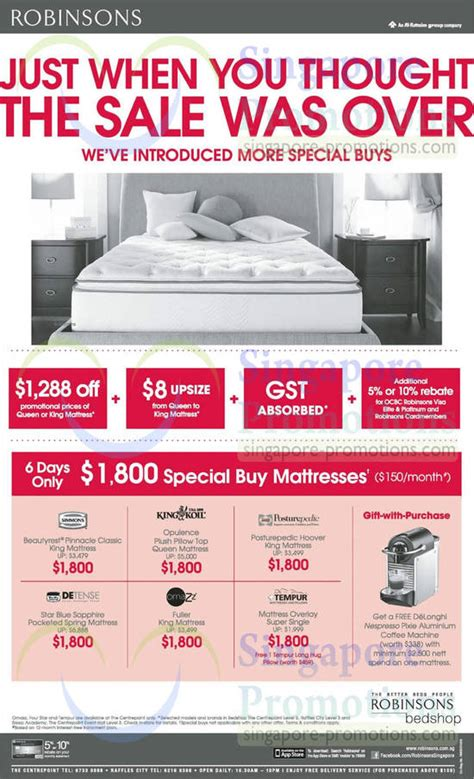 Mattress Singapore Promotion by 13 Jun Mattresses Simmons King Koil Sealy Posturepedic