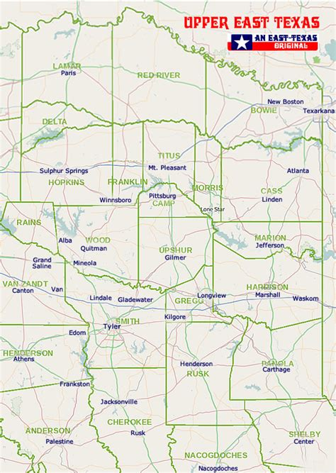 east texas counties map east texas map my