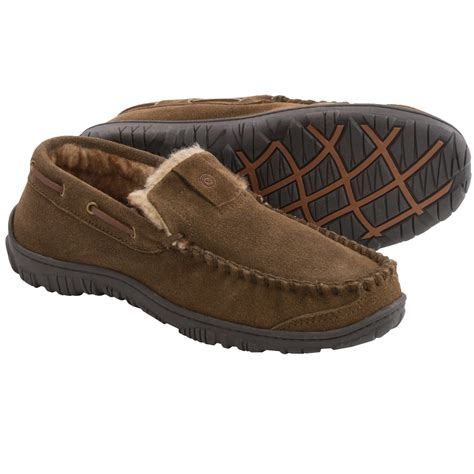 leather house shoes for men clarks leather slippers for men in sage