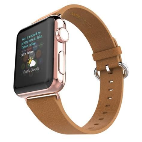 hoco pago style leather band for apple 42mm brown