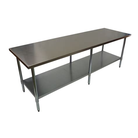 commercial work benches 2438 x 610mm stainless steel 430 commercial food prep work