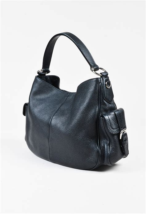 Amour My Large Pockets Bag by Prada Quot Nero Quot Black Leather Side Pocket Top Handle Bag Ebay