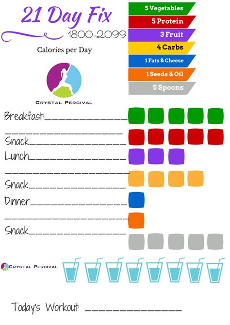 printable meal plan for 21 day fix crystal p fitness and food getting started with the 21