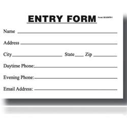 printable entry form template entry blank entry form pad my store