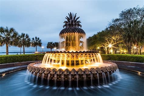Home Decor Charleston Sc by Pineapple Fountain At Waterfront Park Charleston South