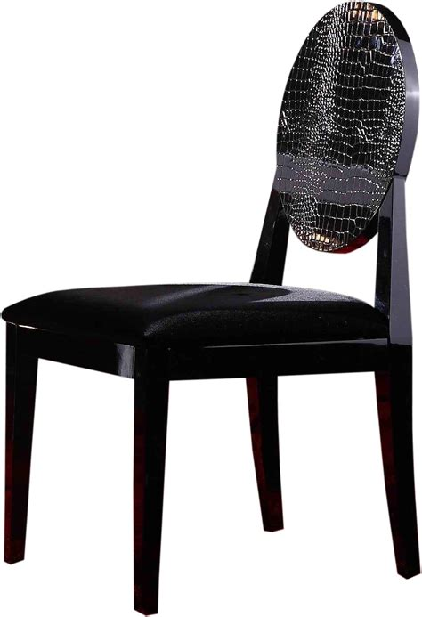 Modern Black Chair by Aa018 Modern White Black Lacquer Chair