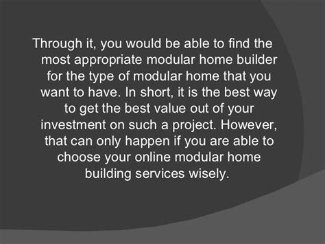 online home builder online modular home builder services things to keep in