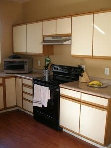 refinishing veneer kitchen cabinets refinishing laminate cabinets thriftyfun