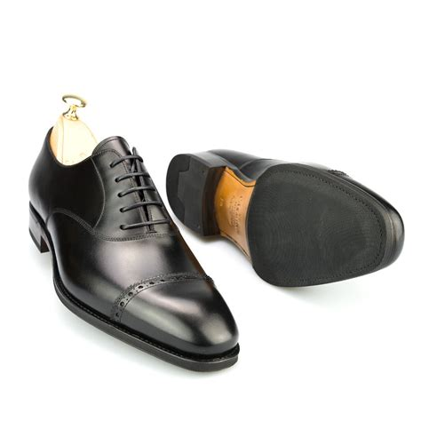 toe cap oxford shoes captoe oxford in black calf