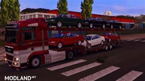 volkswagen cer trailer volkswagen passat car transport trailer mod for ets 2