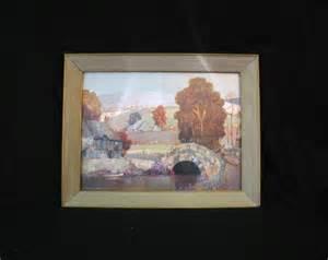 Vintage ernest uden foil art landscape by ifindubuy on etsy