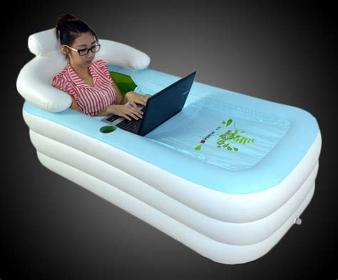 bathtub inflatable would you ever use a portable inflatable bathtub ohgizmo
