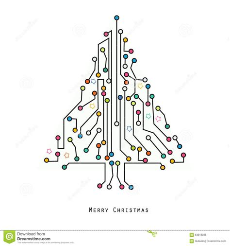 electronic tree tree electronic circuit board vector background