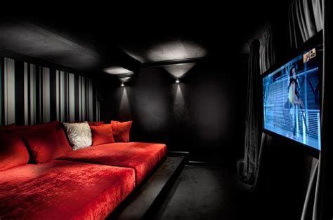 black and red room 25 inspirational modern home movie theater design ideas