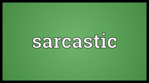 meaning of image sarcastic meaning