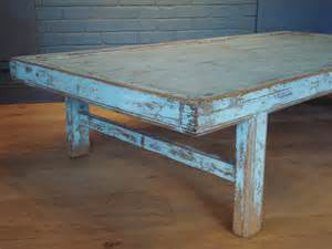 Blue Painted Coffee Table Sold Antique Blue Painted Large Coffee Table Antique