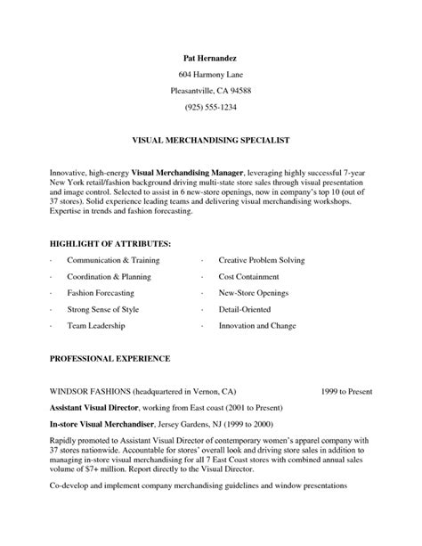 sle resume for visual merchandising manager visual merchandising manager resume resume template free