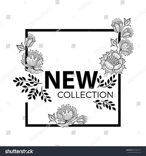 New Collection new collection fashion graphic design square stock vector 403307917