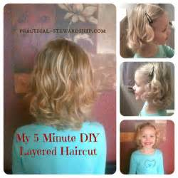 diy haircuts my easy diy 5 minute layered haircut kid in august and