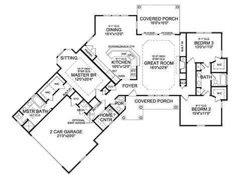 house plans with angled garage eplans country house plan angled ranch boasts dramatic