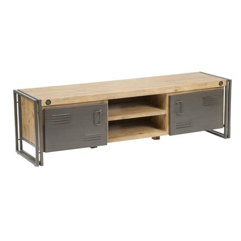 wood and metal tv stand 65 tv stand in distressed solid acacia wood
