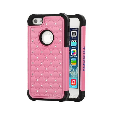 iphone 5c cases for iphone 5 5s 5c heavy duty soft hybrid 3d bling cover shell ebay
