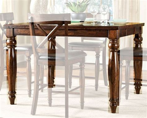 intercon mango wood counter height dining table kingston